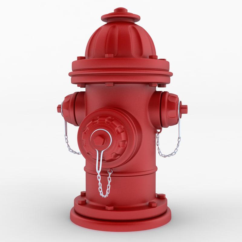 3d model hydrant cartoon
