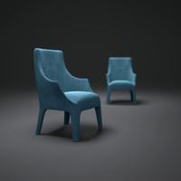 3d model giorgetti-minerva-armchair