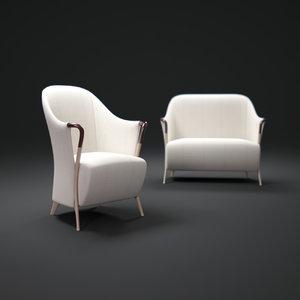 3ds max progetti-armchair-by-giorgetti