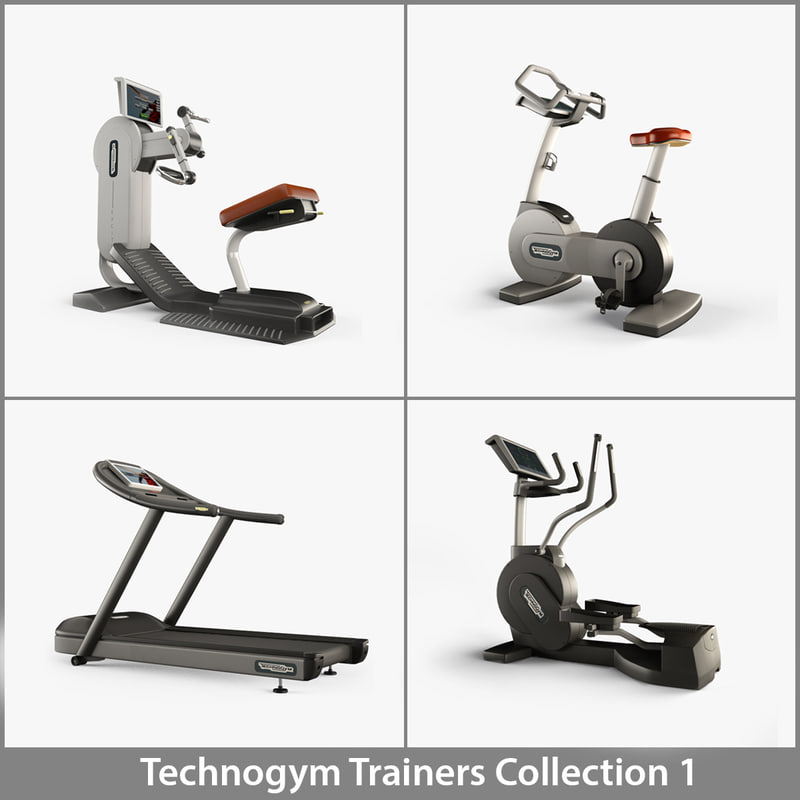 professional trainers 1 technogym 3d model