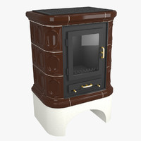 realistic rustic tile fireplace 3d 3ds