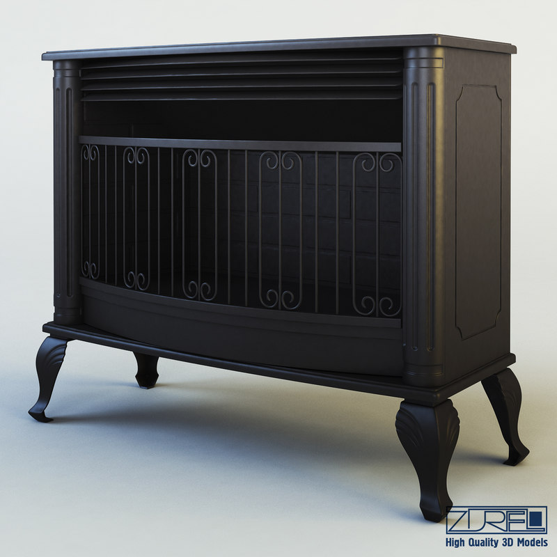 mirage fireplace 3d model