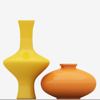 free max mode vase yellow blue