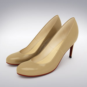 christian louboutin heels scanning 3d model