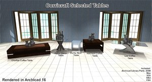 3d model set coffee tables