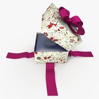 christmas gift present box 3ds