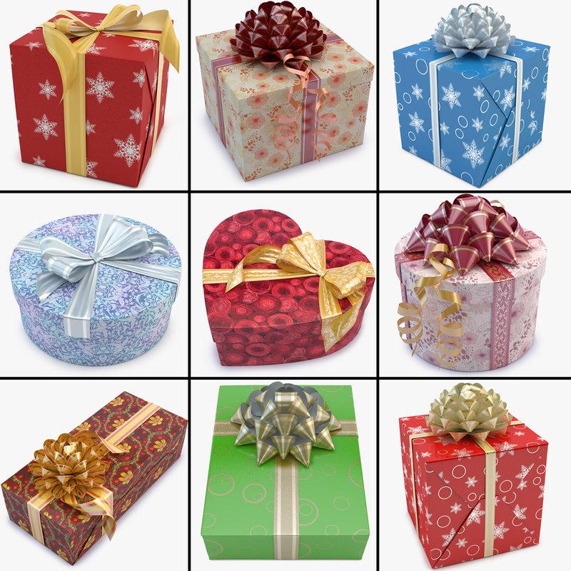 gift box 02 3d model