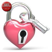 heart pad lock fbx