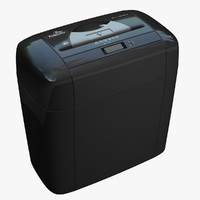 3d model cross paper shredder