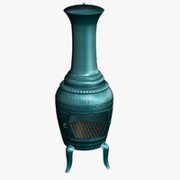 3d model garden chiminea