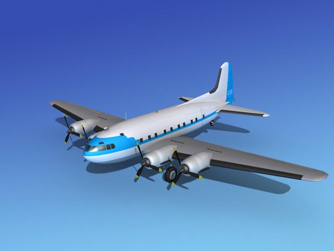 propellers boeing 307 3d model