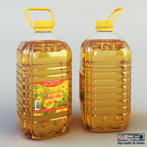 oil bottle 5 liter 3d max