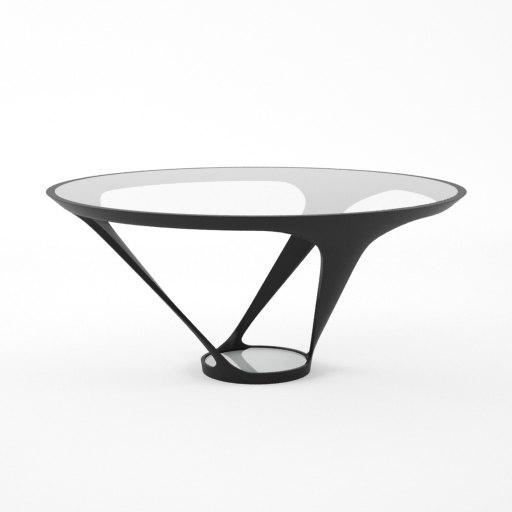 roche bobois ora ito table 3d 3ds. Black Bedroom Furniture Sets. Home Design Ideas