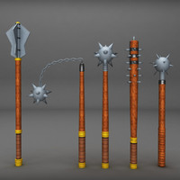 3ds medieval weapons