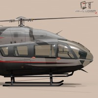 3d model ec145 executive