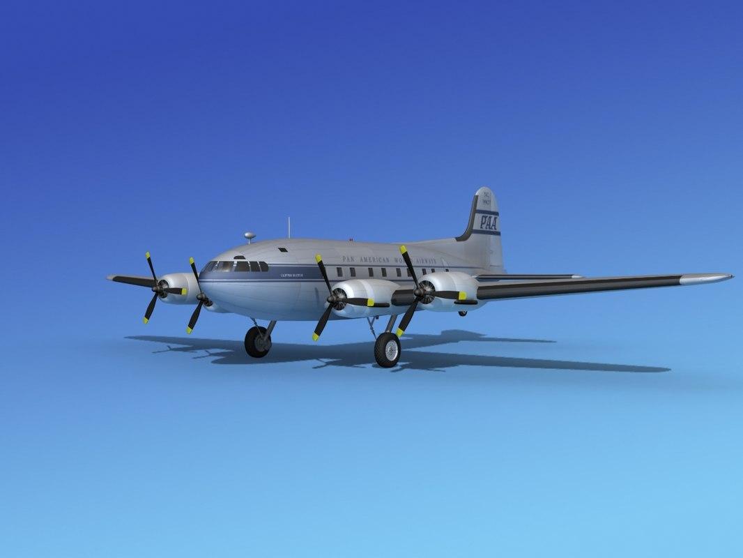 propellers boeing 307 3d max