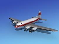 3d max propellers boeing 307