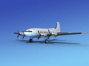 3d model propellers boeing 307