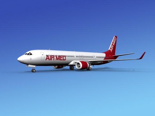 737-900er 737 airplane 737-900 3d max