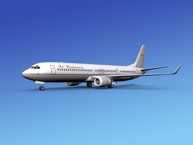 737-900er 737 airplane 737-900 3d 3ds