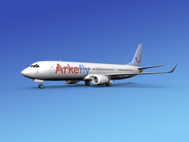 3d 737-900er 737 airplane 737-900 model