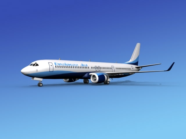3d 3ds 737-900er 737 airplane 737-900