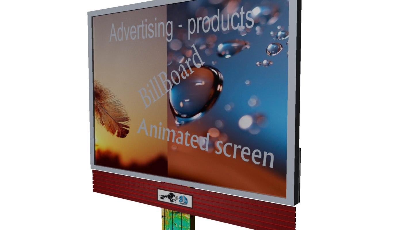free billboard 3d model