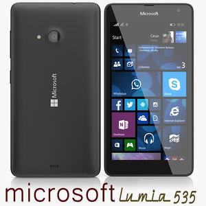 microsoft lumia 535 3d model