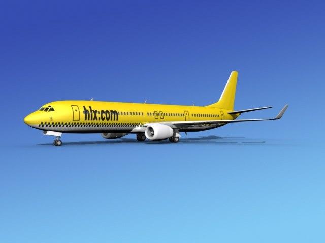 3d model 737-900er 737 airplane 737-900
