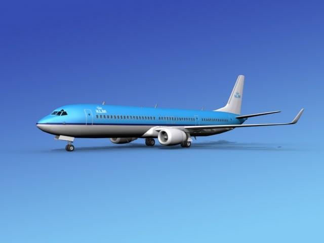 3d model of 737-900er 737 airplane 737-900
