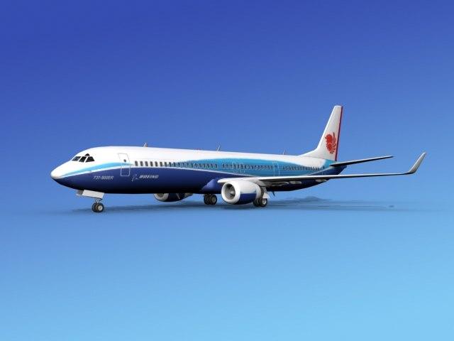 3d dwg 737-900er 737 airplane 737-900