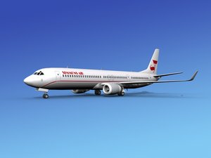 3d model of 737-900er 737 airplane 737-900