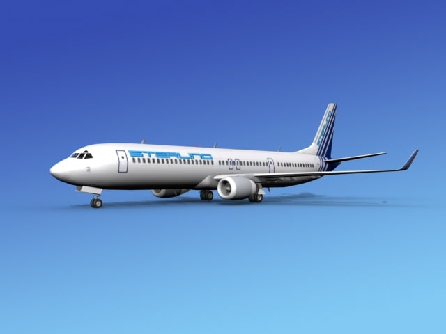 3ds 737-900er 737 airplane 737-900