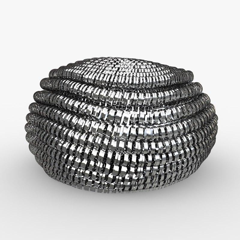 sponge metal 3d model