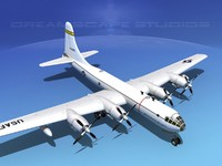 superfortress boeing b-50 bomber 3d 3ds
