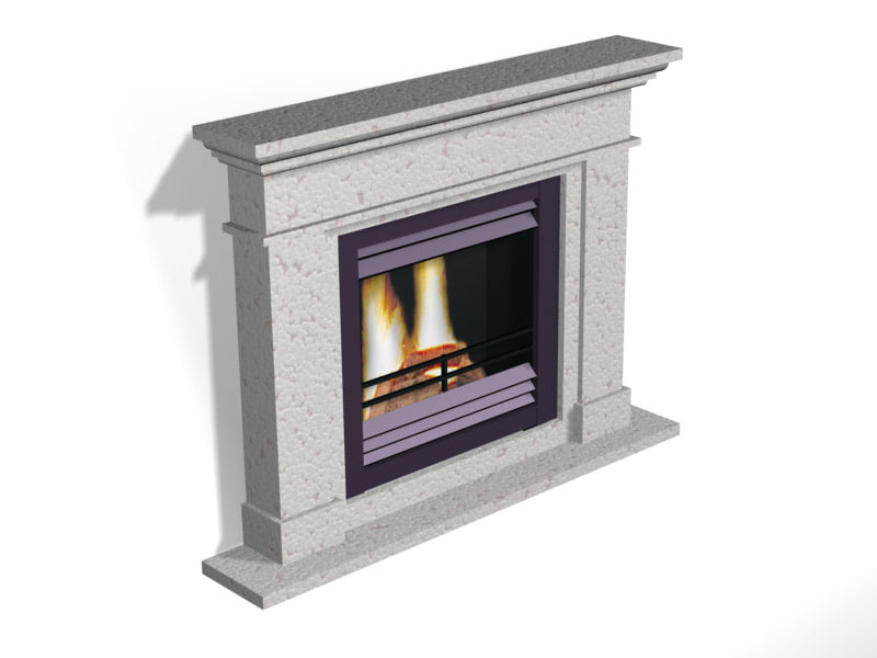 3d model jellum fireplace