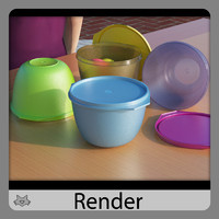 3d model plastic tupperware