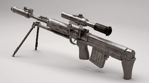 3d dragunov svu gun