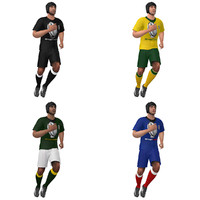 3d pack rigged rugby player