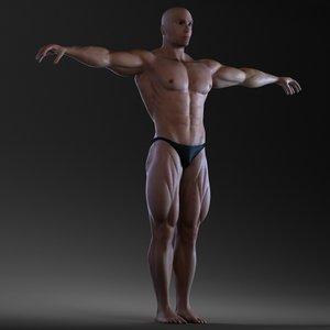 3d max body bodybuilder man