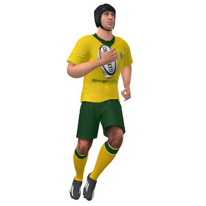 rigged rugby player 2 x
