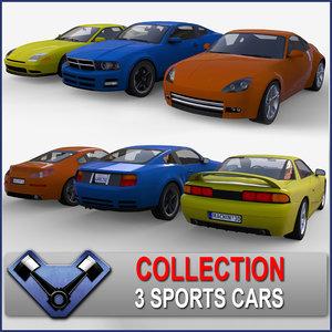 3d model generic sport car