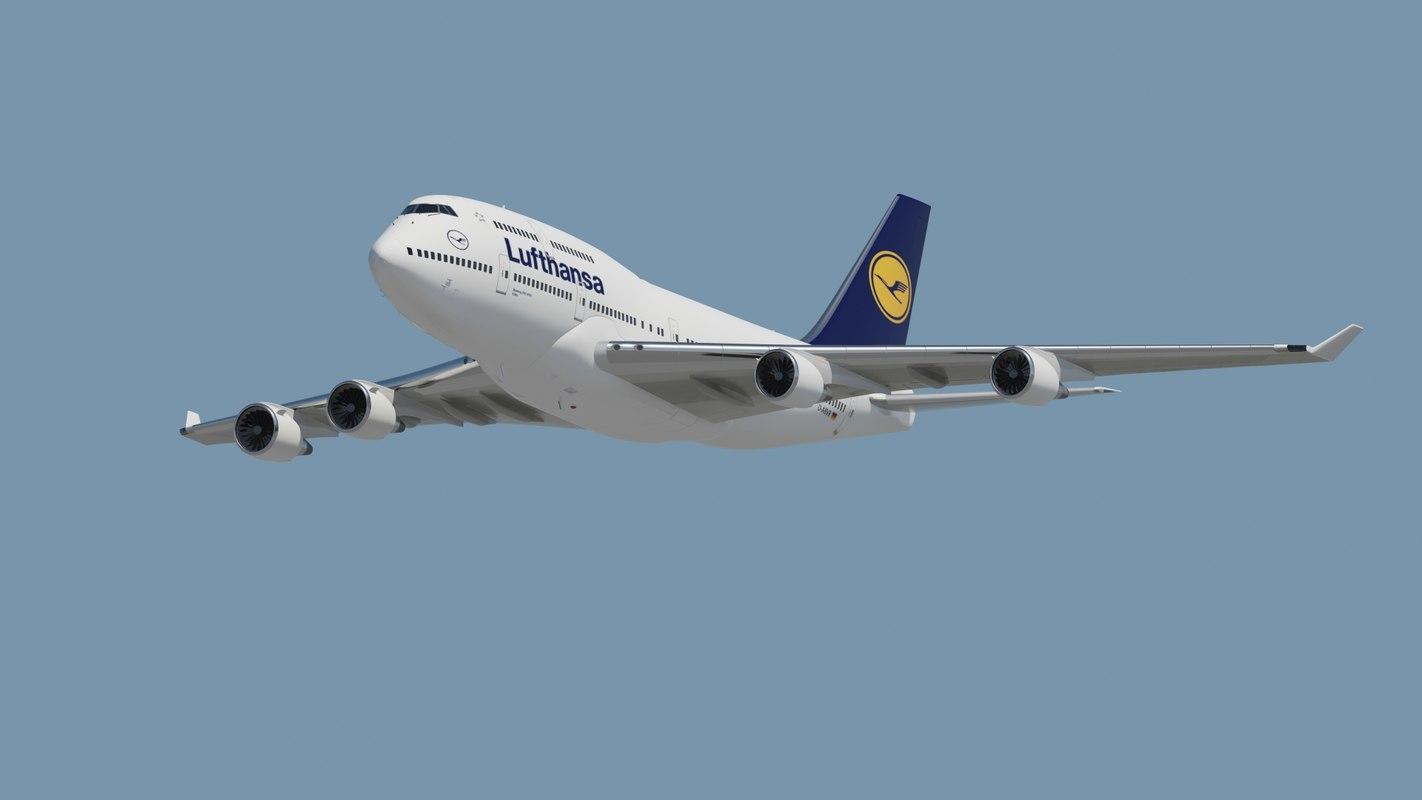3d aircraft lufthansa