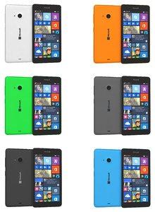microsoft lumia 535 colors 3d 3ds