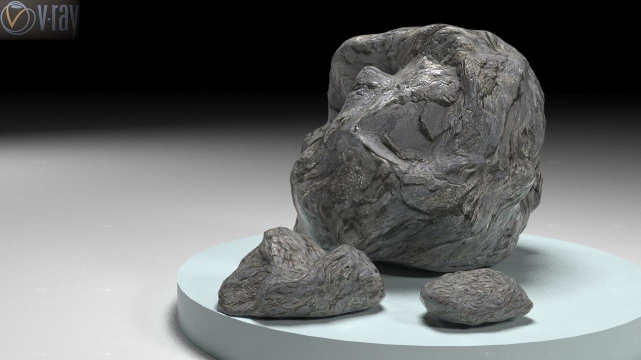 3d stones model