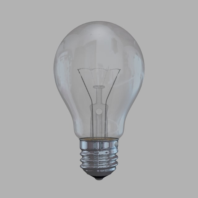 ball light bulb 3d model