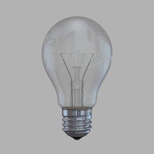 3d model ball light bulb