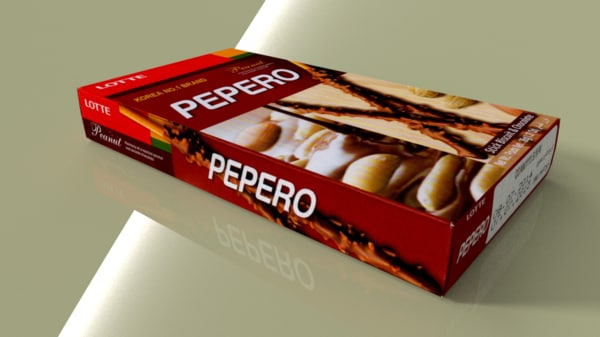 3d lotte pepero peanut model