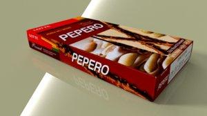 3d lotte pepero peanut model