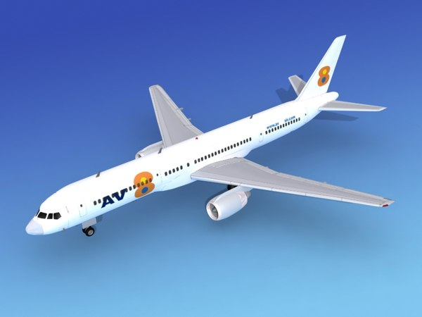 3d airline boeing 757 757-200 model
